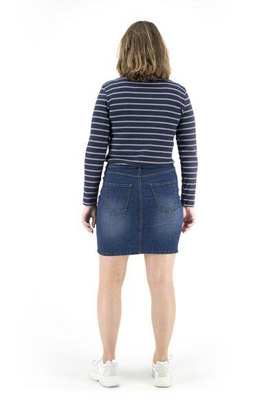 dames spijkerrokje middenblauw middenblauw - 1000018281 - HEMA