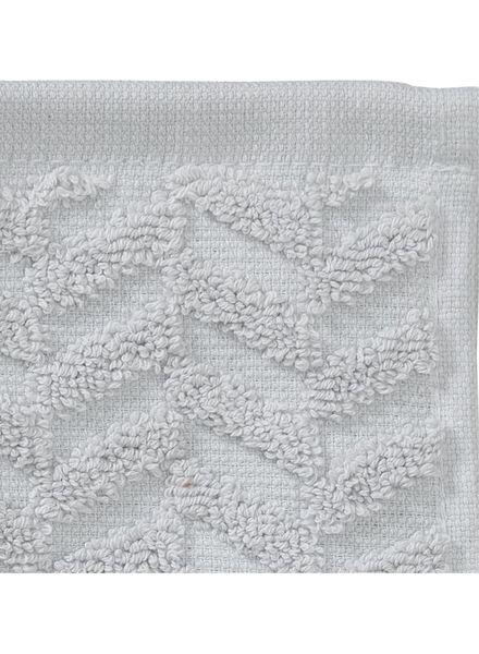 gastendoek zware kwaliteit - zigzag - lichtgrijs - 5200059 - HEMA