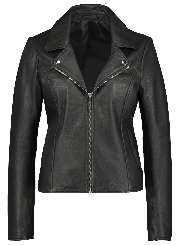 HEMA Dames Bikerjack - Leer Zwart (zwart)