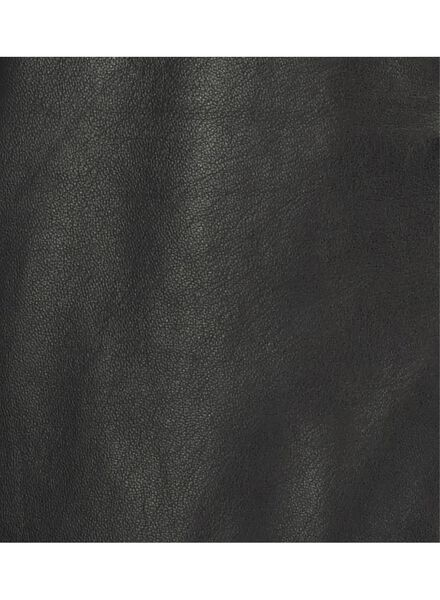 damesrok - leer zwart zwart - 1000017125 - HEMA