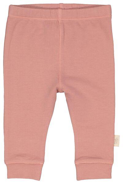 newborn sweatbroek met bamboe roze 56 - 33433733 - HEMA