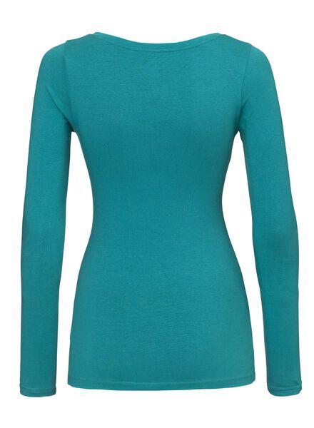 dames t-shirt groen - 1000005158 - HEMA