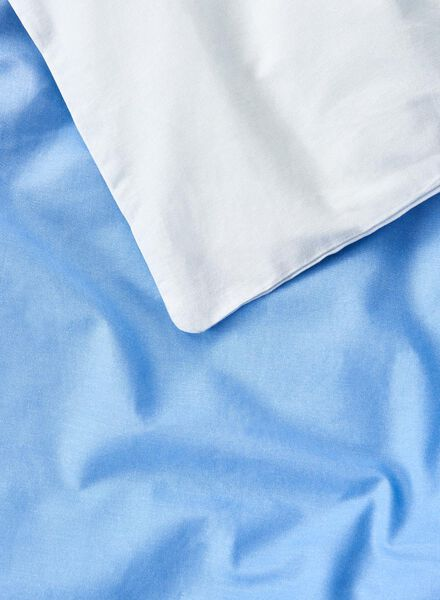 dekbedovertrek - zacht katoen - 240 x 220 cm - blauw blauw 240 x 220 - 5700155 - HEMA