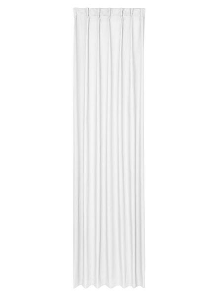 kant en klaar gordijn met plooiband wit - 7632119 - HEMA