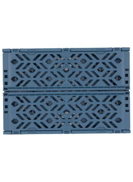 klapkrat gerecycled - 24 x 16 x 9.5 cm - blauw donkerblauw 24 x 16 x 9,5 - 39892904 - HEMA
