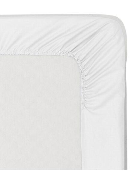 hoeslaken - zacht katoen - 160 x 200 cm - wit wit 160 x 200 - 5140022 - HEMA