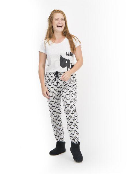 dames pyjama Takkie lichtgrijs lichtgrijs - 1000015506 - HEMA