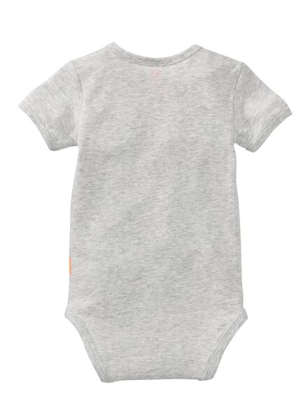 babyromper grijsmelange grijsmelange - 1000008031 - HEMA