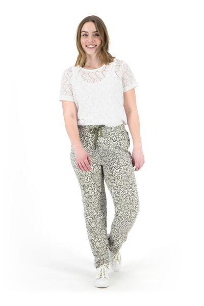 dames t-shirt gebroken wit gebroken wit - 1000019444 - HEMA