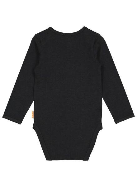 romper met bamboe stretch zwart zwart - 1000016574 - HEMA
