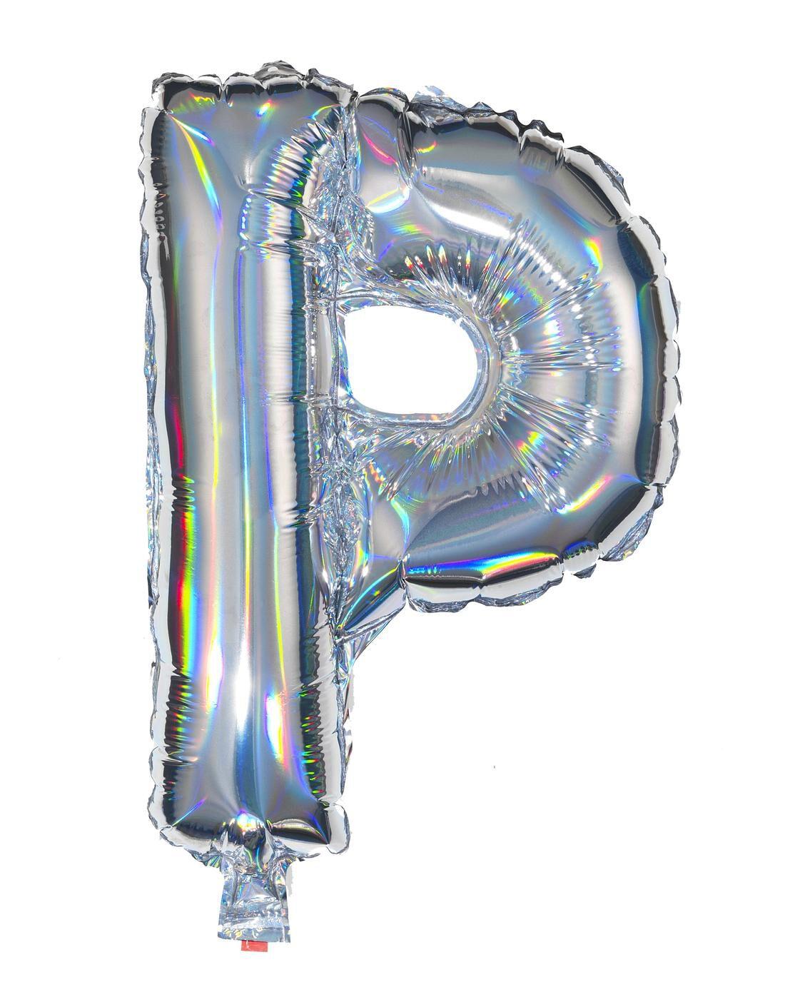 HEMA Folieballon P - Zilver (multi)