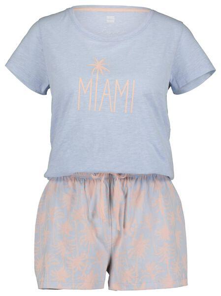 dames pyjama lichtblauw lichtblauw - 1000019772 - HEMA