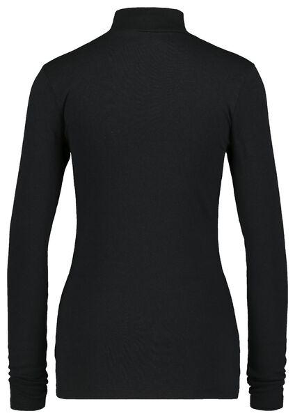 dames t-shirt col zwart zwart - 1000021683 - HEMA