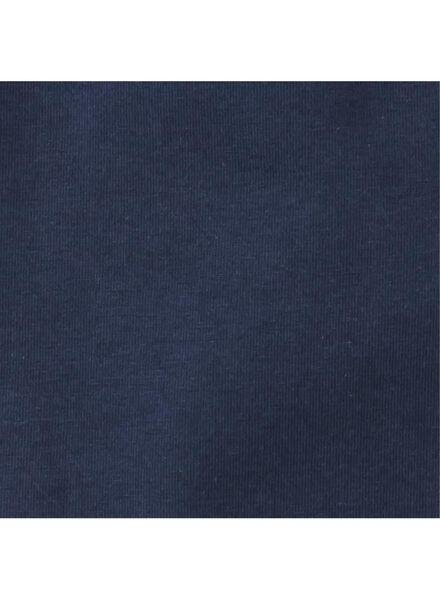 romper organic katoen stretch donkerblauw 86/92 - 33343524 - HEMA