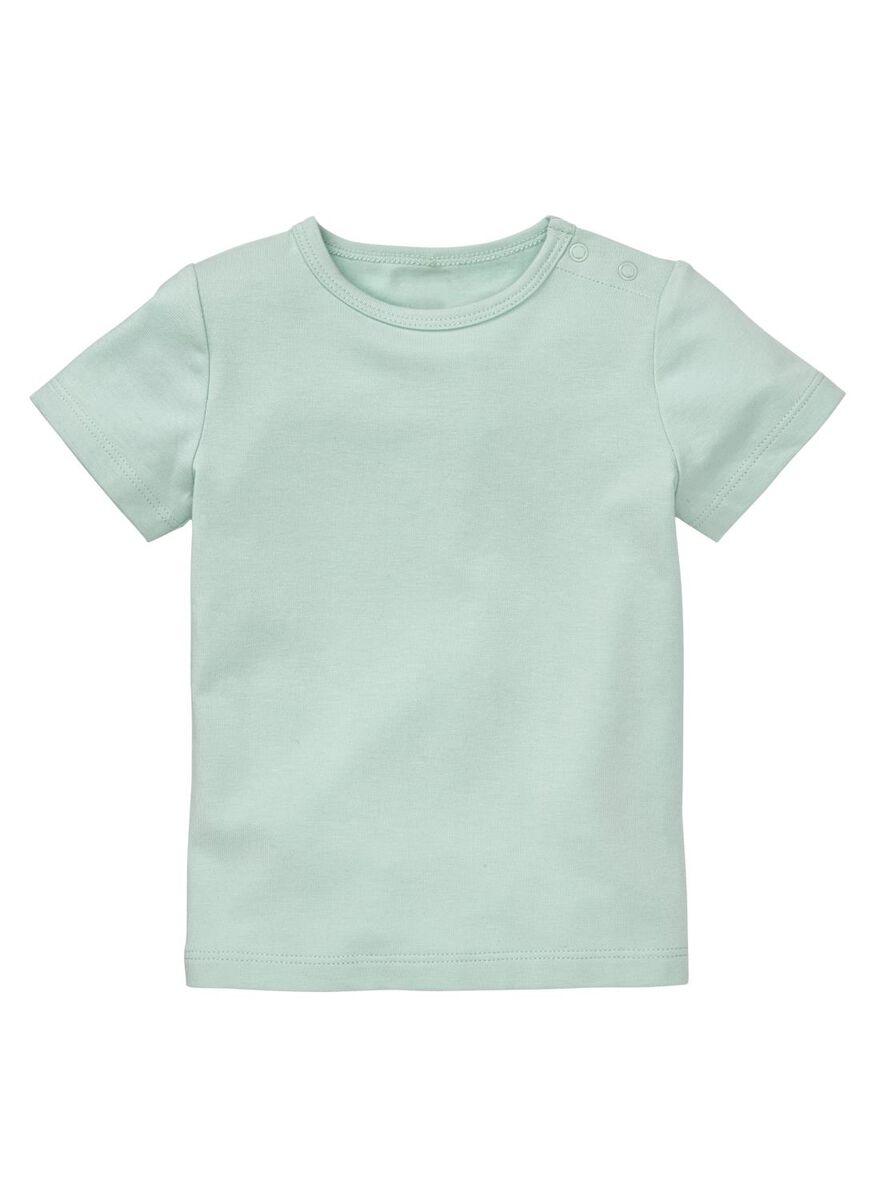 baby t-shirt bamboe mintgroen, maat 62 of 68, 3 euro.
