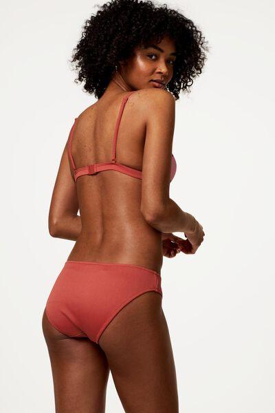 dames bikinibroekje - rib rood M - 22340213 - HEMA