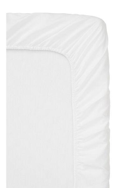 hoeslaken boxspring - zacht katoen - 160 x 200 cm - wit wit 160 x 200 - 5100142 - HEMA