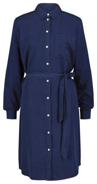 damesjurk donkerblauw L - 36208363 - HEMA