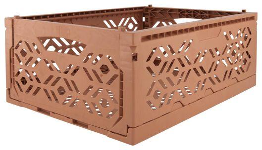 klapkrat recycled 30x40x15 - terra - 39821052 - HEMA