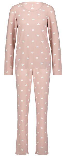 Damespyjama hartjes roze - in Pyjama's & Loungewear