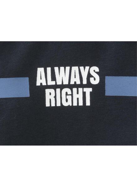 kinder t-shirt blauw blauw - 1000013272 - HEMA