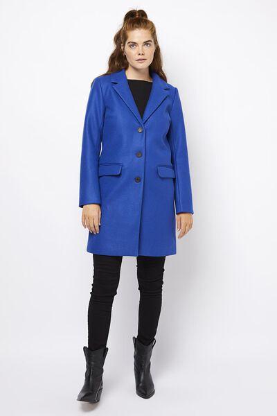 damesjas kobaltblauw kobaltblauw - 1000020937 - HEMA