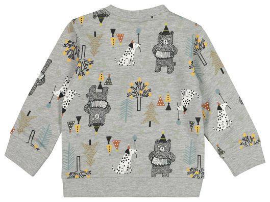 babysweater feest grijs grijs - 1000021812 - HEMA