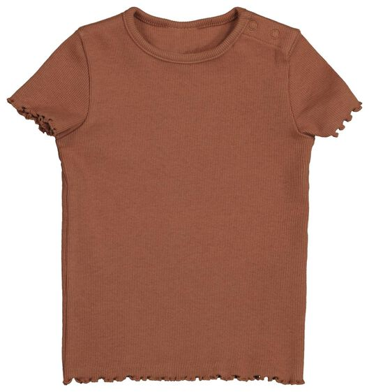 baby t-shirt rib 2 stuks roze roze - 1000022324 - HEMA