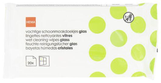 vochtige schoonmaakdoekjes glas 29x18 - 20 stuks - 20530039 - HEMA