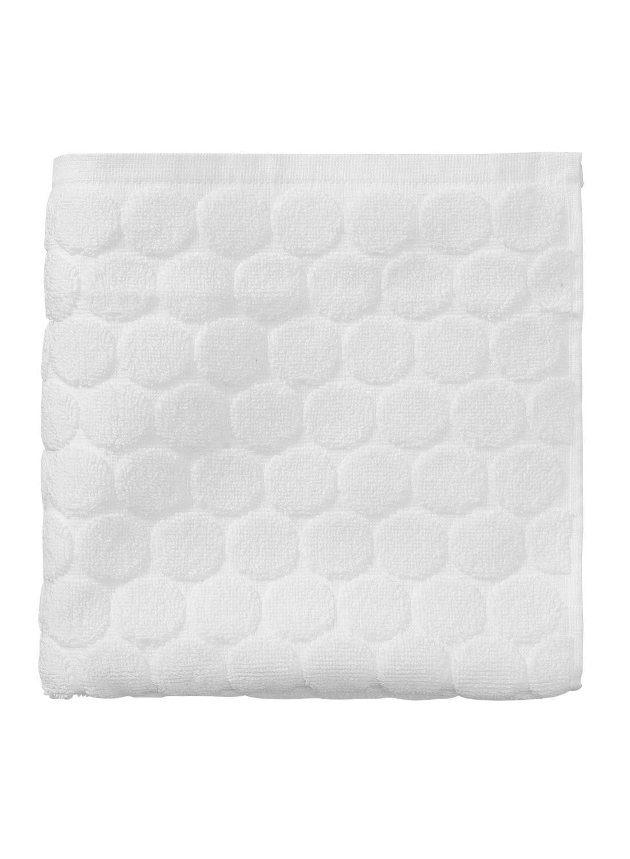 HEMA Handdoek – 50 X 100 Cm – Zware Kwaliteit – Wit Gestipt (blanc)