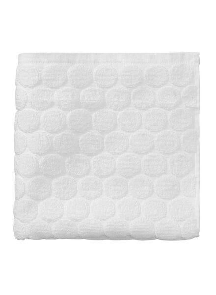 handdoek zware kwaliteit 50 x 100 - wit - 5240170 - HEMA