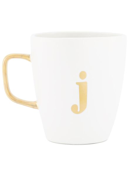mok letter j wit J - 60030059 - HEMA