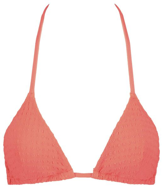dames padded triangle bikinitop rood L - 22311614 - HEMA