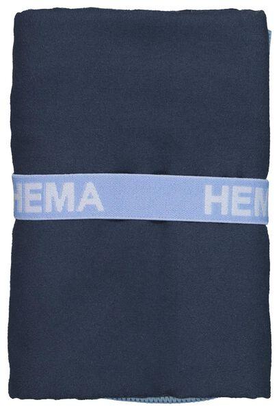 microvezelhanddoek 70x140 blauw - 5290062 - HEMA
