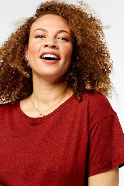 dames t-shirt bruin XL - 36290869 - HEMA
