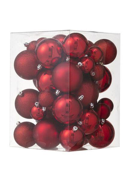 44-pak plastic kerstballen - 25100882 - HEMA