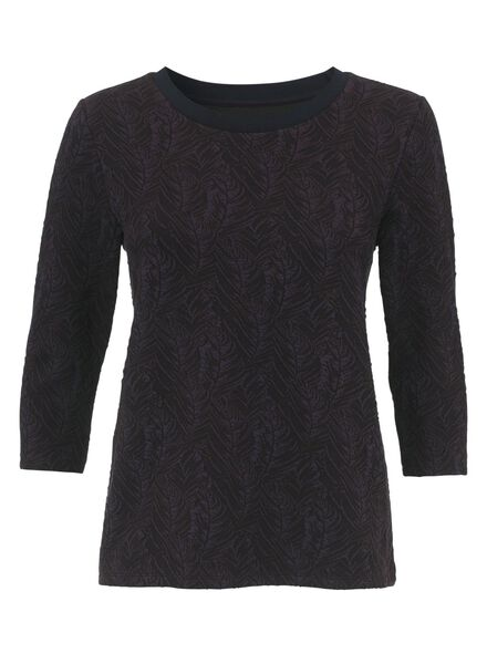dames t-shirt wijnrood wijnrood - 1000009757 - HEMA