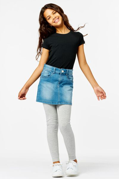 kinder t-shirt zwart 146/152 - 30843955 - HEMA