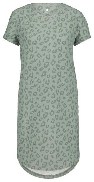 damesnachthemd micro groen groen - 1000020716 - HEMA