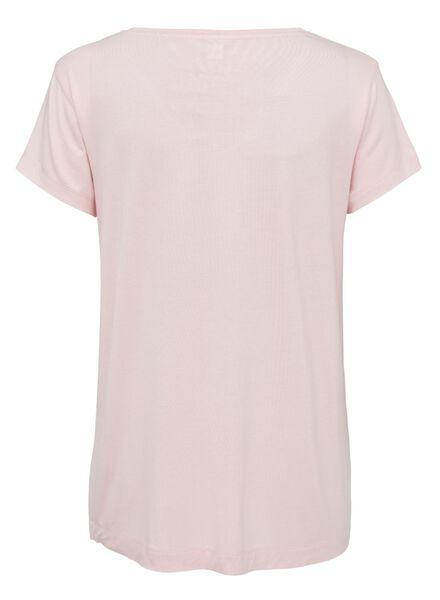 dames pyjamatop viscose lichtroze lichtroze - 1000013368 - HEMA