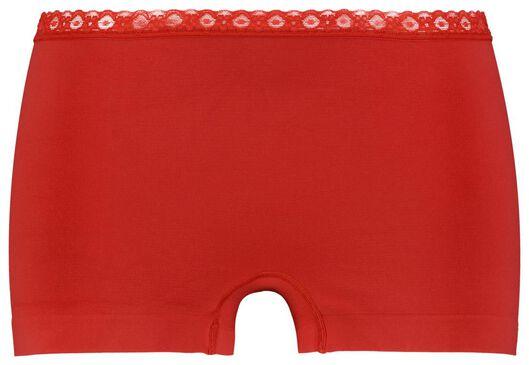 damesboxer naadloos kant rood M - 19620026 - HEMA