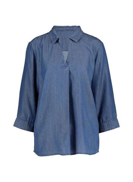damesblouse middenblauw middenblauw - 1000014804 - HEMA