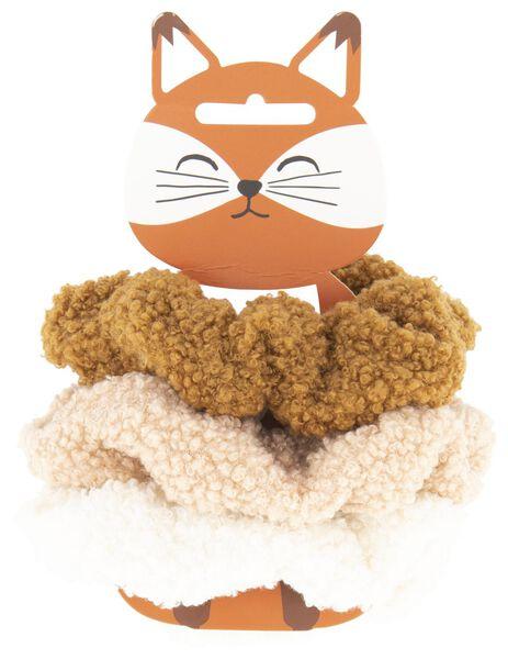 scrunchies teddy - 3 stuks - 61122812 - HEMA