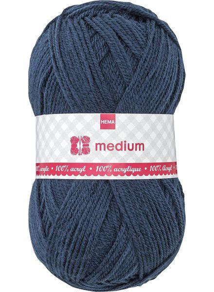 breigaren medium - donkerblauw medium 100 g donkerblauw - 1400042 - HEMA