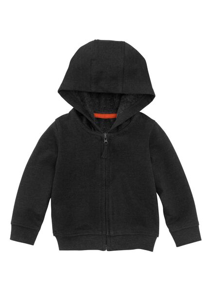 baby sweatvest zwart zwart - 1000008555 - HEMA