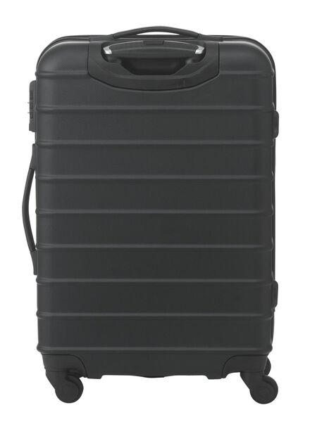 koffer - 67 x 44 x 25 - zwart streep 67 x 44 x 25 zwart - 18670001 - HEMA