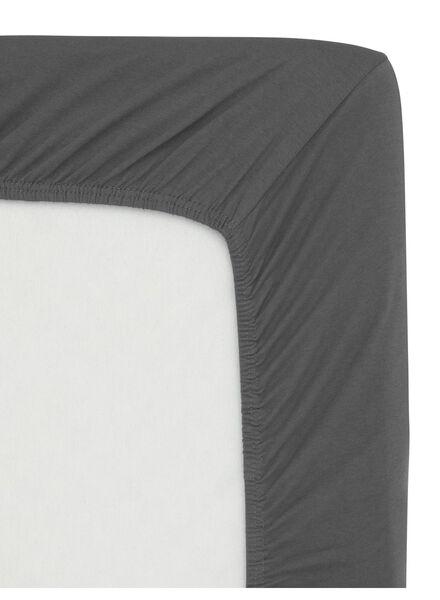 hoeslaken - jersey katoen - 180 x 200 cm - donkergrijs - 5140007 - HEMA