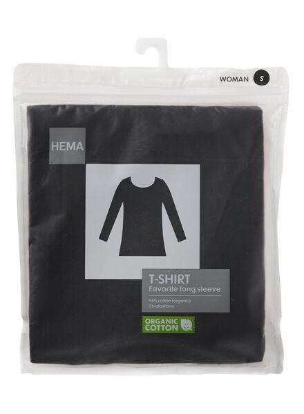 dames basic t-shirt zwart XL - 36396084 - HEMA