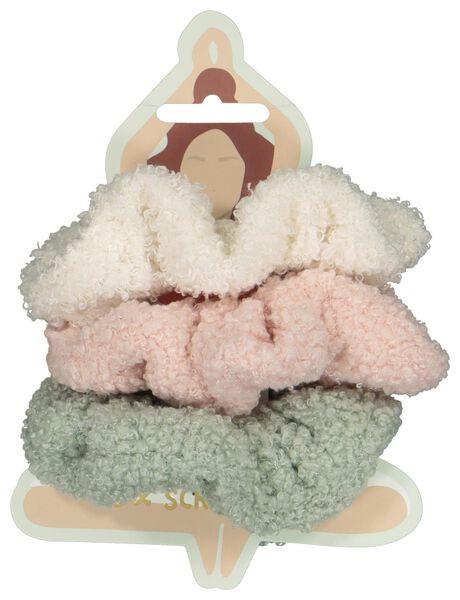 scrunchies teddy - 3 stuks - 61140005 - HEMA