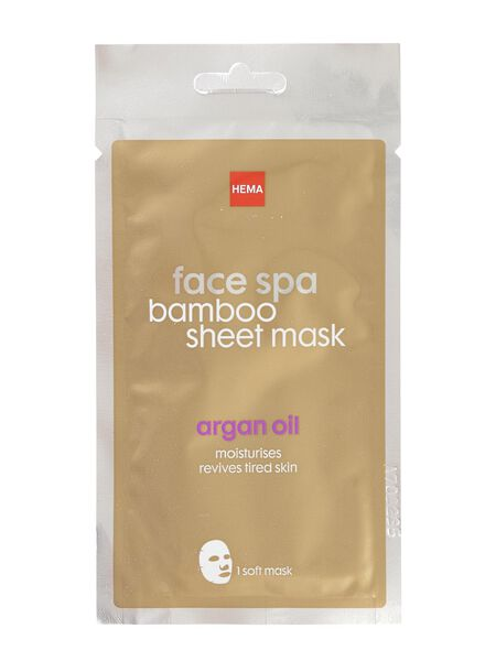 bamboo sheet masker met argan olie - 17850026 - HEMA